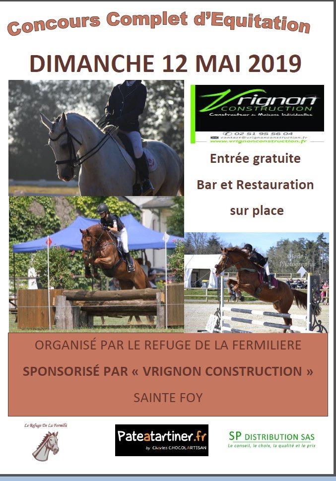 Vrignon Construction sponsor du Concours complet d'équitation de Sainte Foy