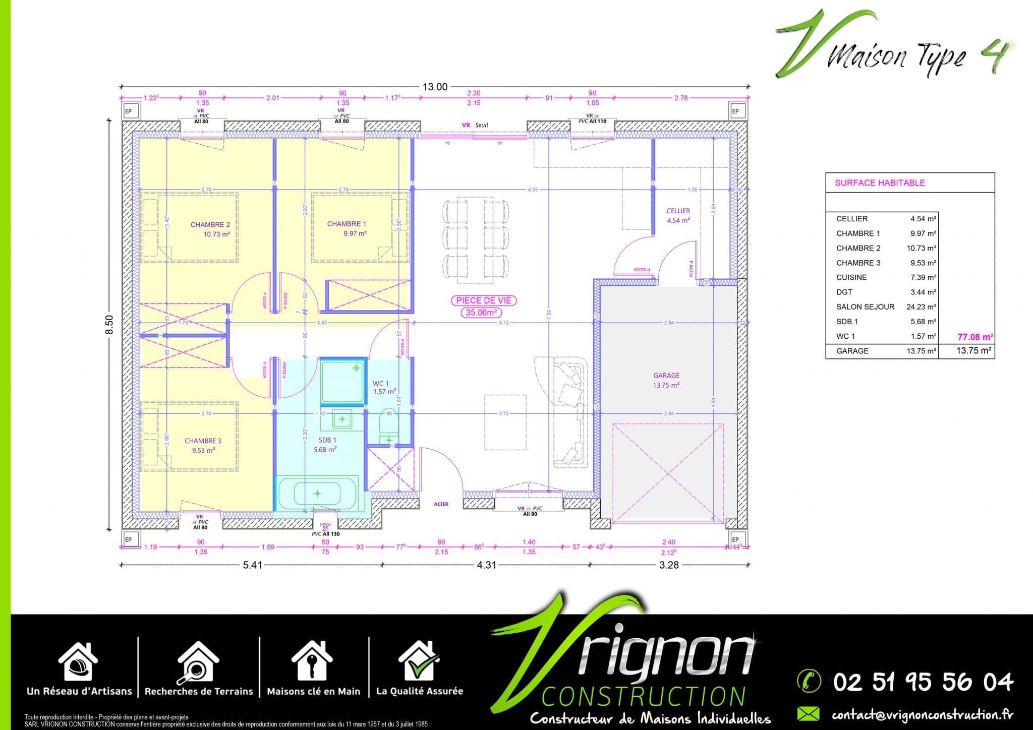 Plan La maison V4