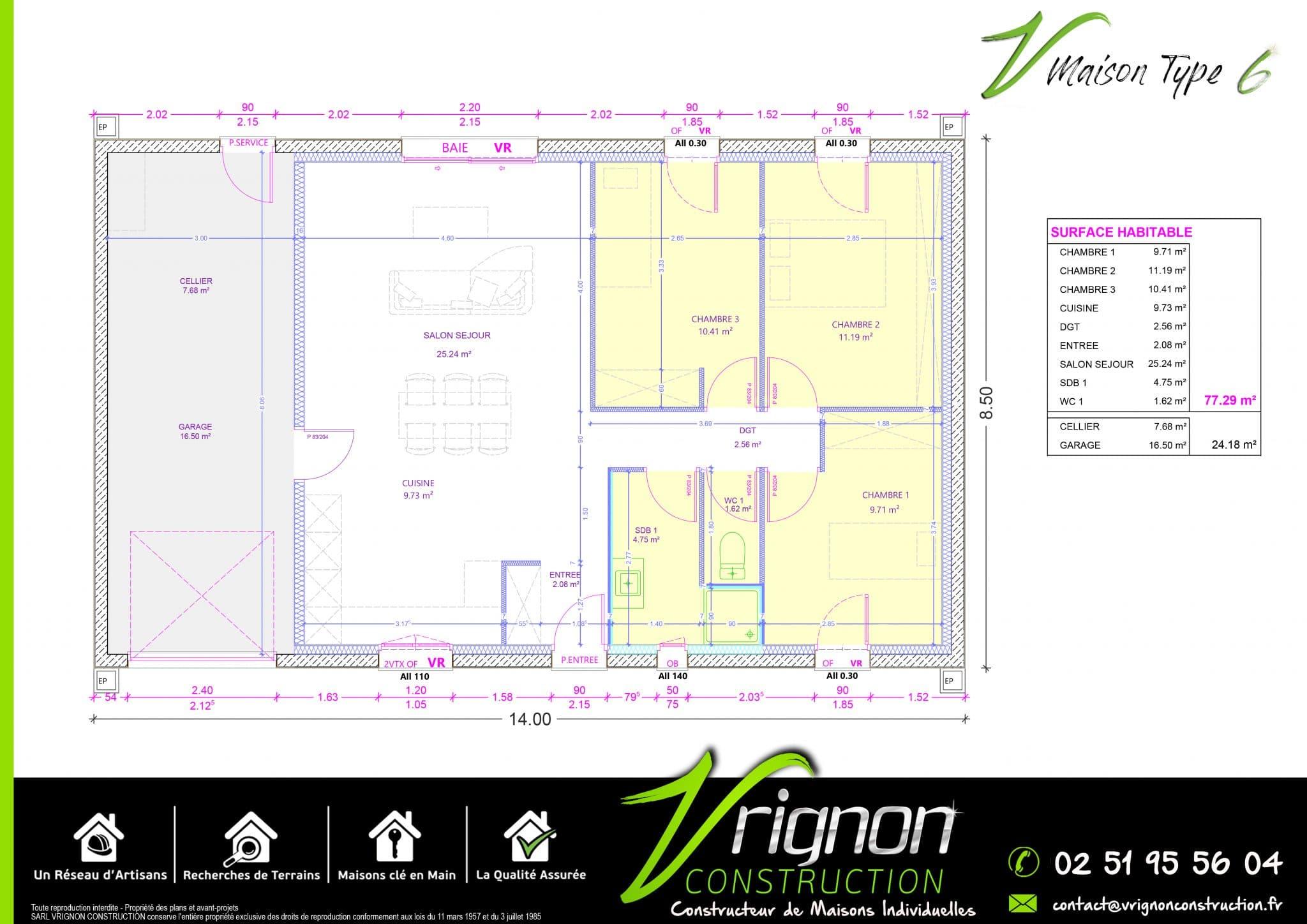 Plan La maison V6