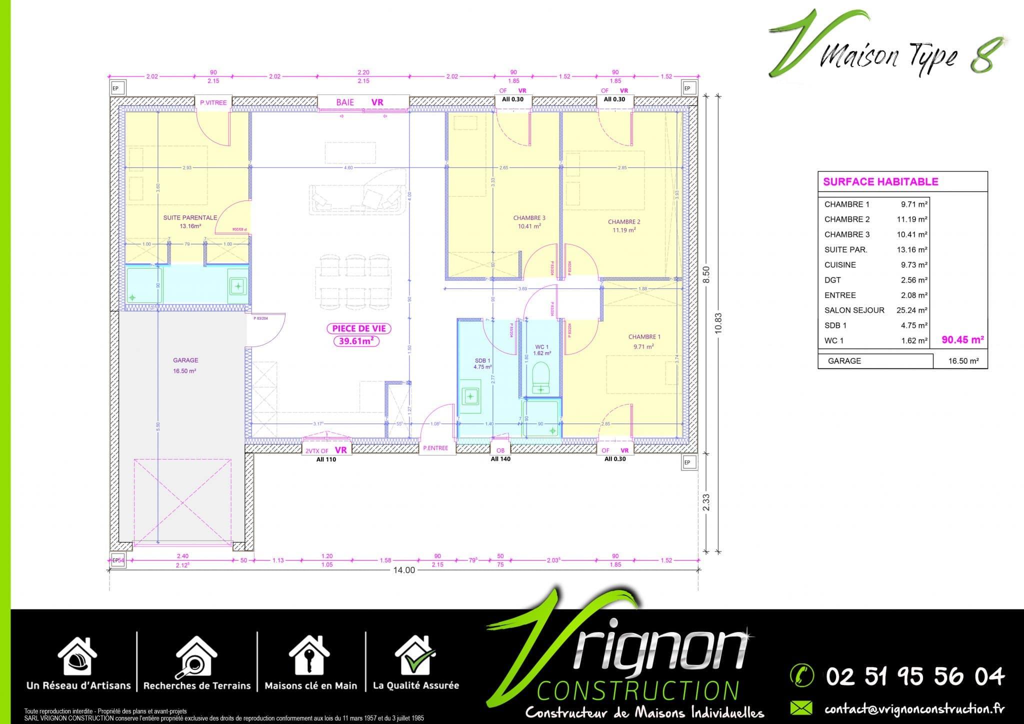 Plan La maison V8