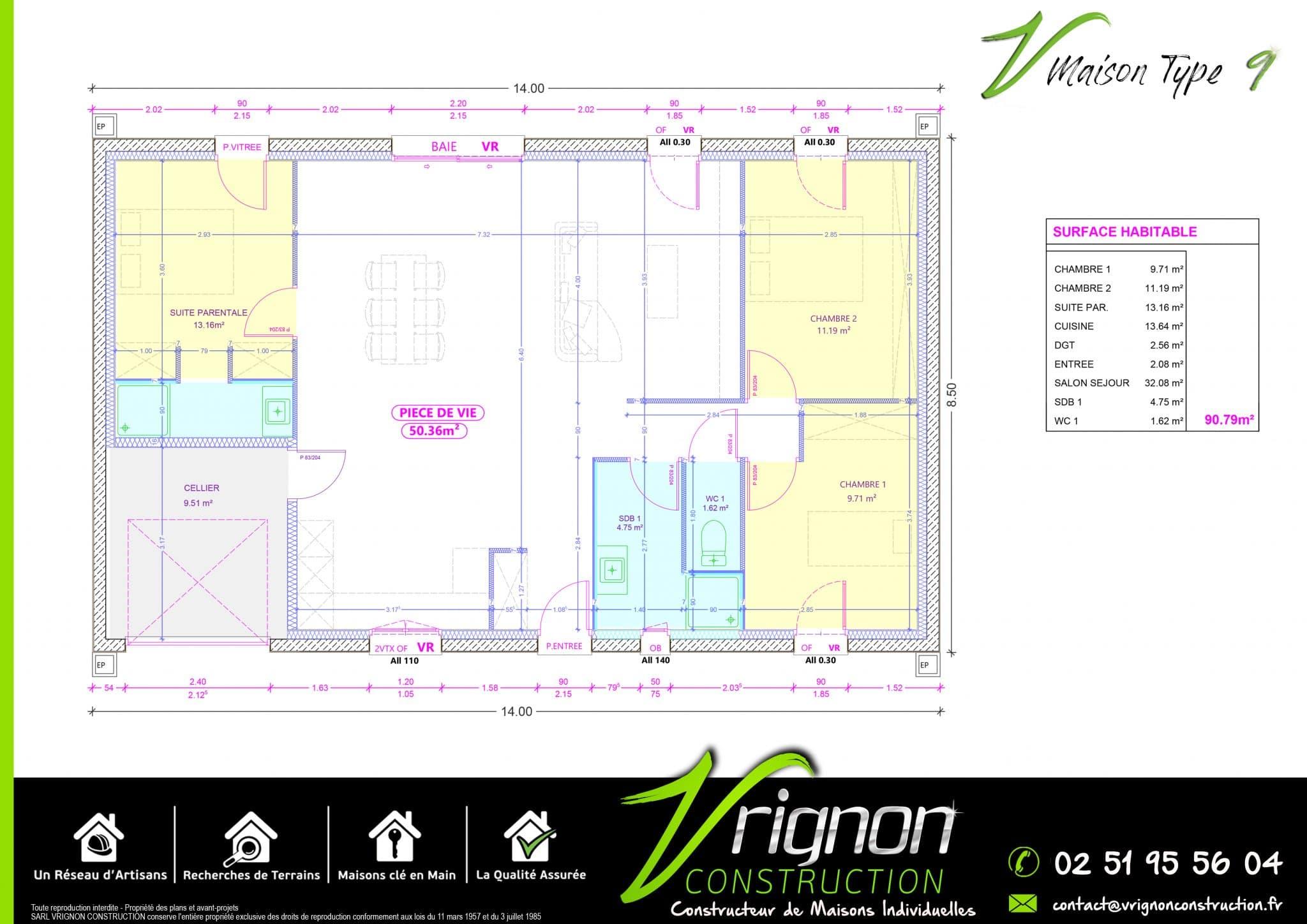 Plan La maison V9